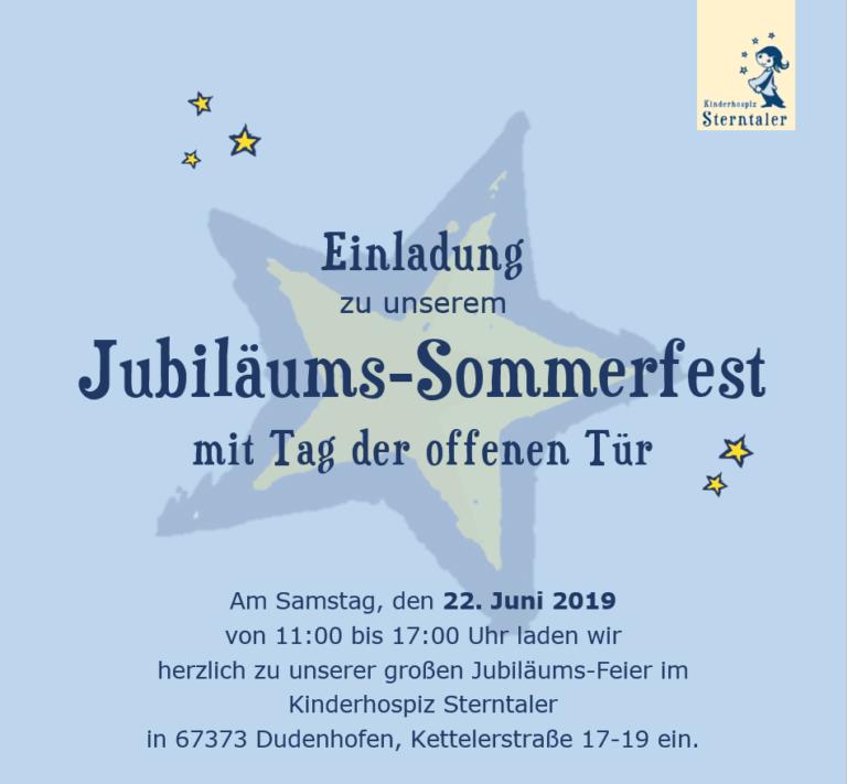 Einladung zu unserem Jubiläums-Sommerfest mit Tag der offenen Tür