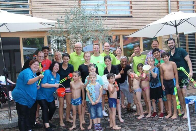 Familien-Nachmittag-Waterproofed