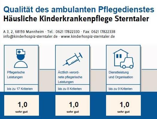 Medizinischer Dienst benotet HKK Sterntaler mit Note 1,0