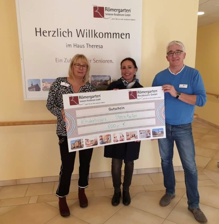 Römergarten Seniorenresidenzen – Haus Theresa spendet an Kinderhospiz