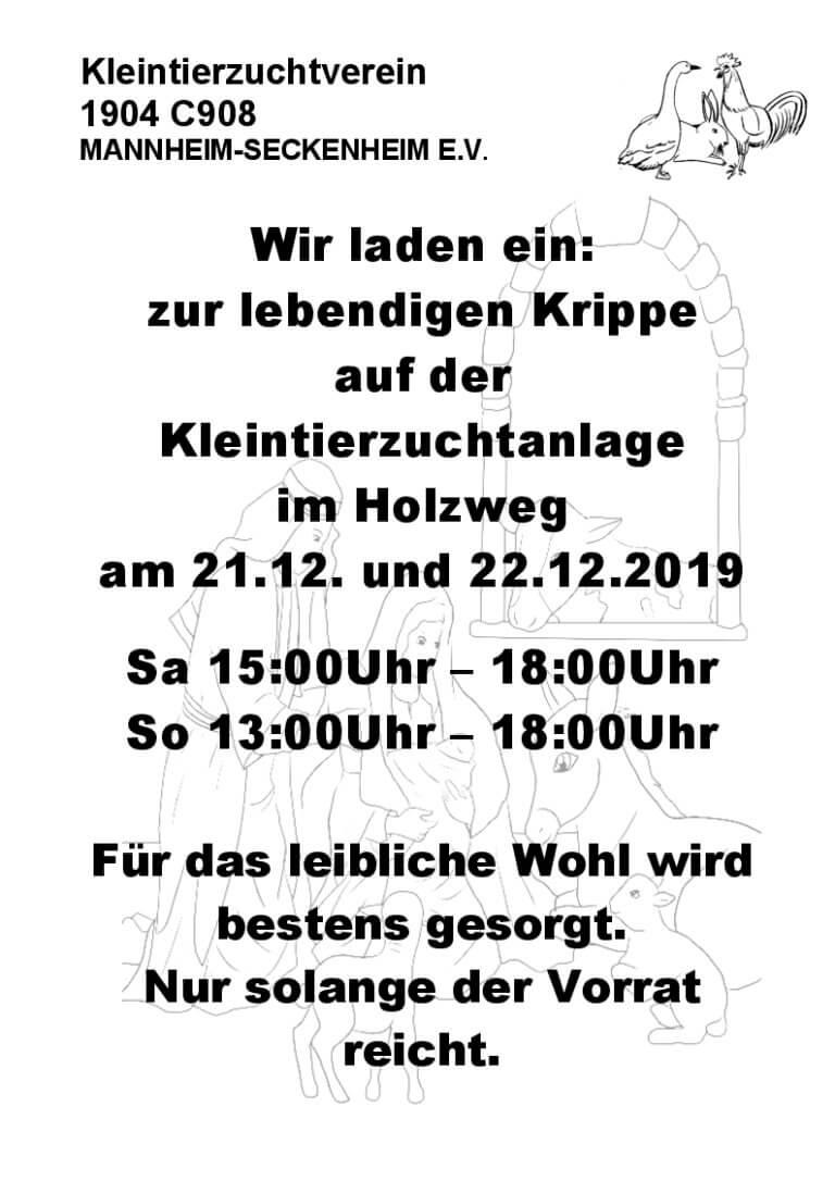 """Die """"Lebendige Krippe des KTZV Seckenheim"""""""