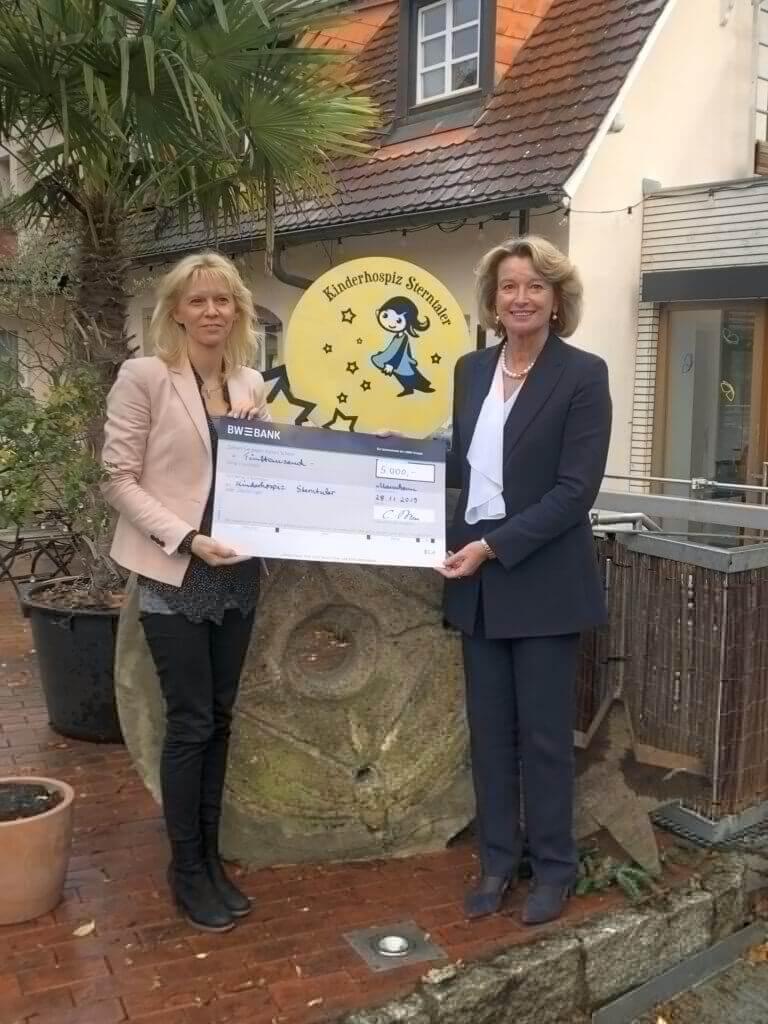 LBBW in Mannheim spendet 5.000 Euro für das Kinderhospiz Sterntaler