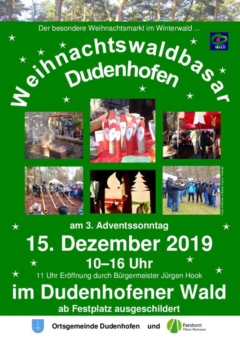 Die Sterntaler freuen sich auf Euren Besuch beim Weihnachtswaldbazar in Dudenhofen