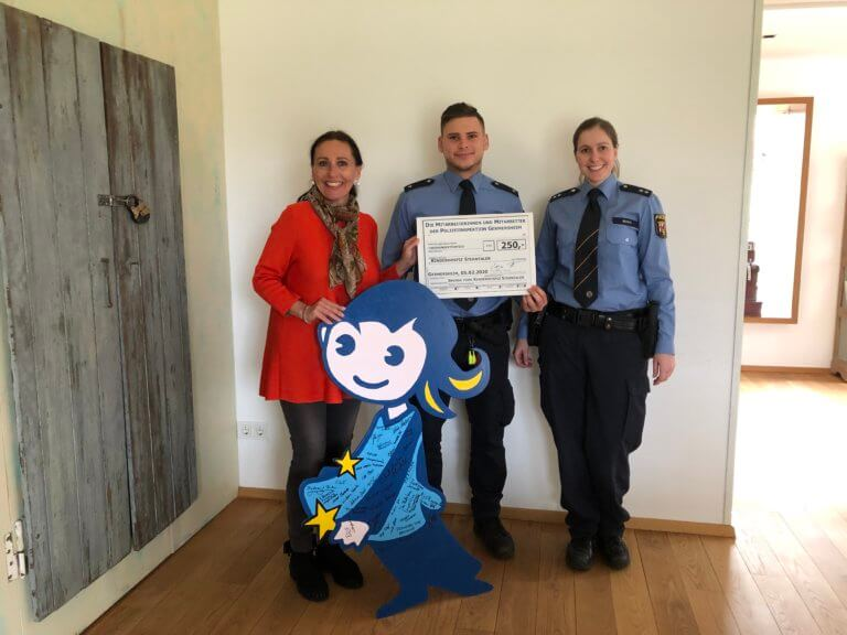 Polizei Germersheim spendet 250 Euro an das Kinderhospiz Sterntaler