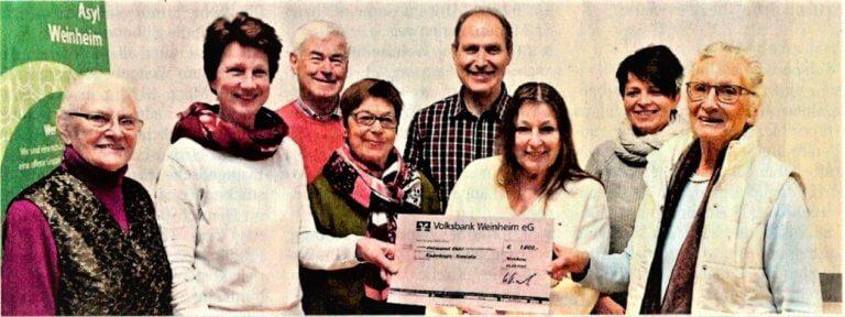 Der Kinderschutzbund Weinheim unterstützt das Kinderhospiz Sterntaler