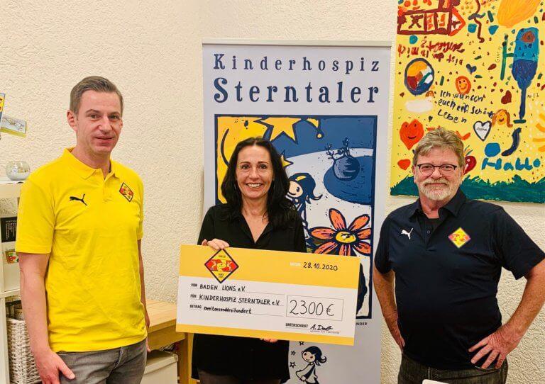 Baden Lions und deren Handballfans unterstützen ihre Sterntaler