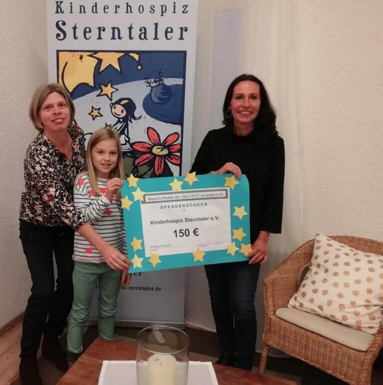 Carl-Orff Grundschule in Weinheim Sulzbach spendet an Kinderhospiz Sterntaler