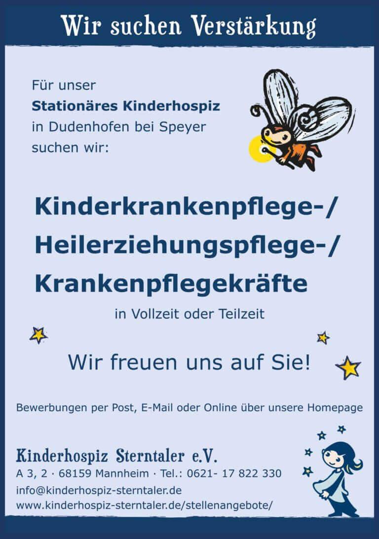 Kinderkrankenpflege- / Krankenpflege- / Heilerziehungspflegekraft